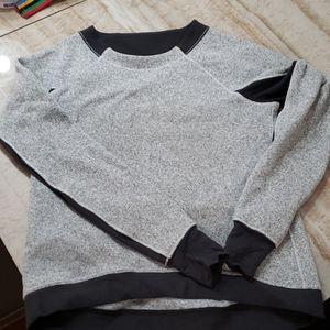 Lululemon two tone gray crew neck pullover